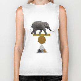 Tribal Elephant Biker Tank