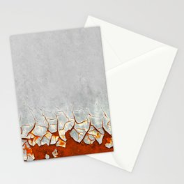 Rust and Grey Stationery Cards