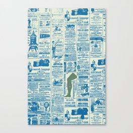Newspaper blues Canvas Print