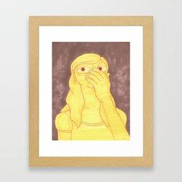 Man Hands Framed Art Print