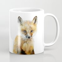 baby Mugs featuring Little Fox by Amy Hamilton