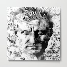 JULIUS CAESAR (BLACK & WHITE VERSION) Metal Print