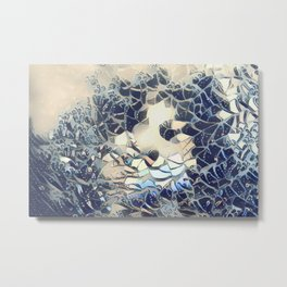The Breaking Of A Wave Metal Print