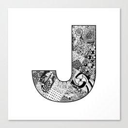 Cutout Letter J Canvas Print