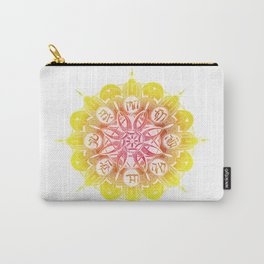 Hamsa Mandala (red/yellow/orange gradient) Carry-All Pouch