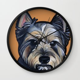 Rigoletto the cairn terrier Wall Clock