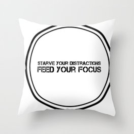 Feed Your Focus Throw Pillow