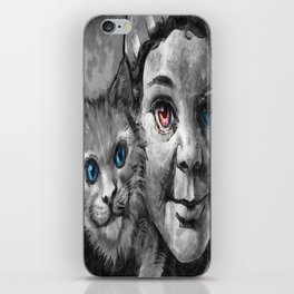 The Girl And The Pussy Cat iPhone Skin