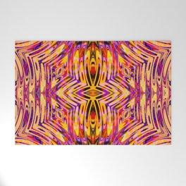 Funkydelic - Purple Yellow Red Geometric Welcome Mat
