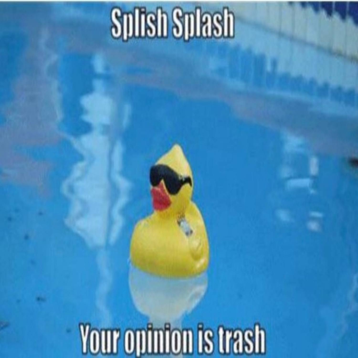 Splish splash your opinion is trash