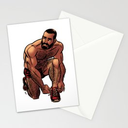 Shirtless Jogger Stationery Cards