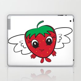 Cute Strawberry FlyBerry Kiddo White Laptop & iPad Skin