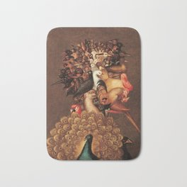 The Air by Giuseppe Arcimboldo - The Four Elements Bath Mat