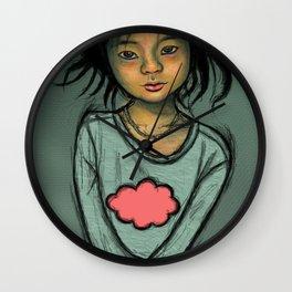 Cloud Girl Wall Clock