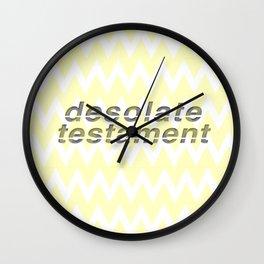Desolate Testament Wall Clock