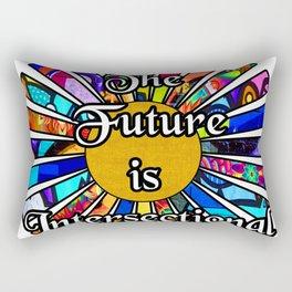 The Future is Intersectional Graffiti Sunrays Rectangular Pillow