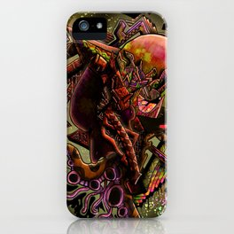 Bi-polar (psychedelic) iPhone Case