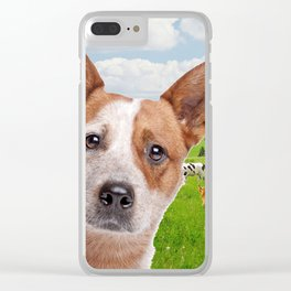 Australian Cattle Dog Red Clear iPhone Case