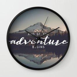 Trillium Adventure Begins - Nature Photography Wall Clock