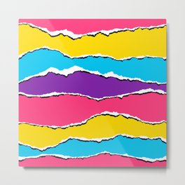Bright pattern in collage style Metal Print