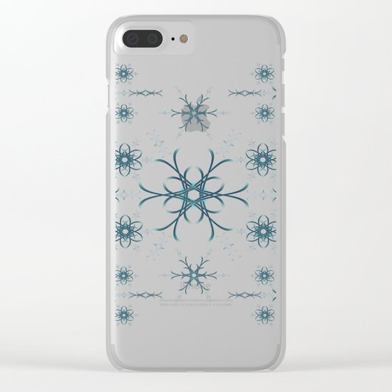 Blue flowers. Pattern. Clear iPhone Case