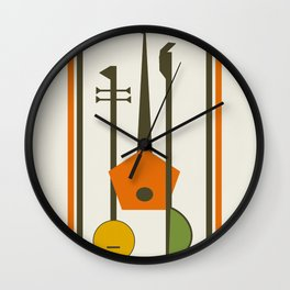 Mid-Century Modern Art Musical Strings Wall Clock