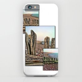 Porlock Beach Triptych. iPhone Case