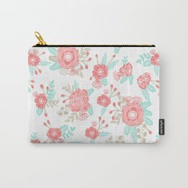 Girly Trend florals cute minimal modern painted flower bouquet colors of the year Carry-All Pouch