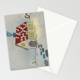 Winter Evening in Tiny Gingerbread House Stationery Cards