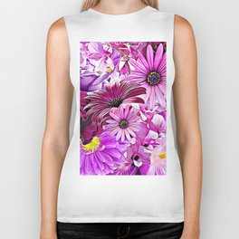 Purple Bouquet Biker Tank