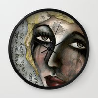 blondie Wall Clocks featuring Blondie by The Waking Artist