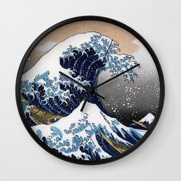 "Hokusai , "" The Great Wave off Kanagawa "" Wall Clock"
