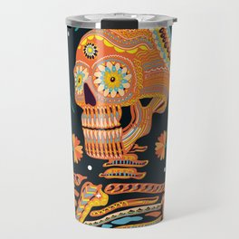 Day of the Dead Skeleton – Dia de los muertos – sugar skull – cool design Travel Mug