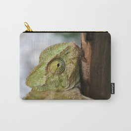 Chameleon Hanging On To A Door Carry-All Pouch
