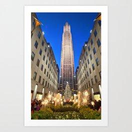 Rockefeller Center at Christmas Art Print