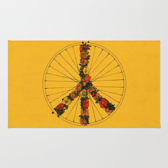 Peace & Bike (Colors) Rug