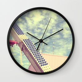 Happy metal pink Wall Clock