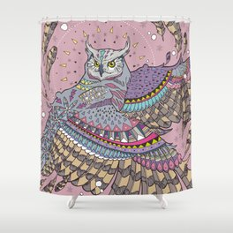 Pink owl Shower Curtain