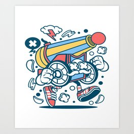 Cannon Ballfor animated characters comics and pop culture lovers Art Print