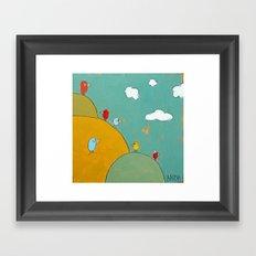 Birds In The Bushes Framed Art Print