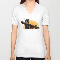 brooklyn bridge V-neck T-shirts featuring Brooklyn Bridge by Smitukey