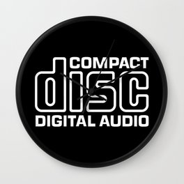 Compact Disk Digital Audio Logo - White Wall Clock