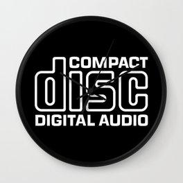 Compact Disk Digital Audio Logo - White Wall Clock