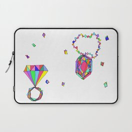 Shine Colorfully diamonds jewelry illustration fashion gem colorful accessory princess girly Laptop Sleeve