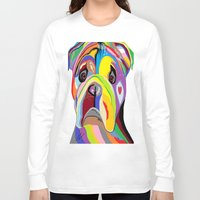 bulldog Long Sleeve T-shirts featuring Bulldog by EloiseArt