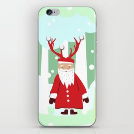 Undercover Santa iPhone Skin