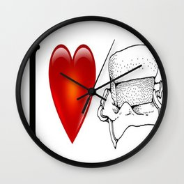 I heart loaf Wall Clock