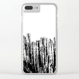 Cactus Garden IV Clear iPhone Case