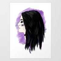 wwe Art Prints featuring WWE Paige - Gypsy Soul by Little Tigy