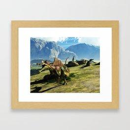 Ichthyovenator Dinosaur Framed Art Print